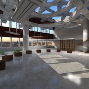 Atrium Loft Environment 3d model