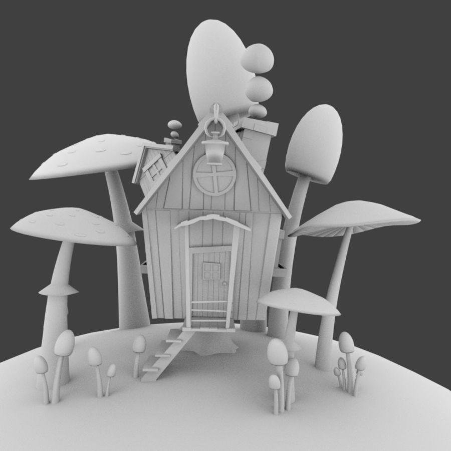 Masal evi royalty-free 3d model - Preview no. 6