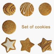 Zestaw ciasteczek 3d model