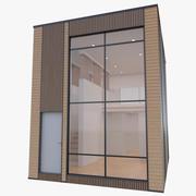 微型住宅,内部装满 3d model