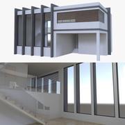 Modern House quattro con interni pieni 3d model
