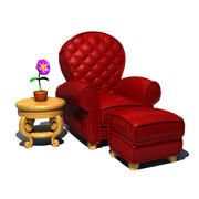 Toon Chair 3d model