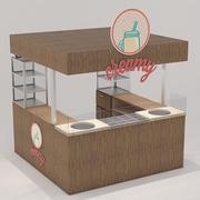 Stand de boulangerie 3d model
