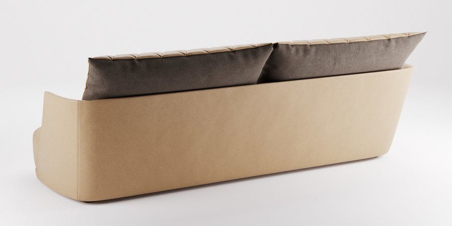 Canapé Alberta Grace royalty-free 3d model - Preview no. 2