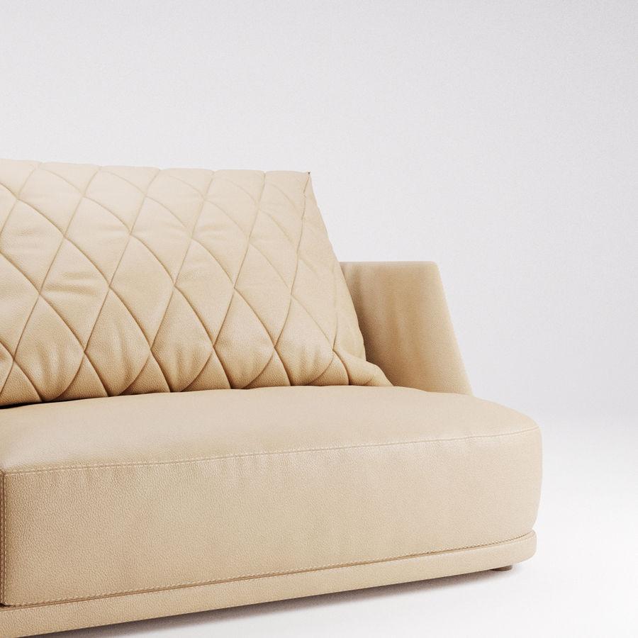 Canapé Alberta Grace royalty-free 3d model - Preview no. 7