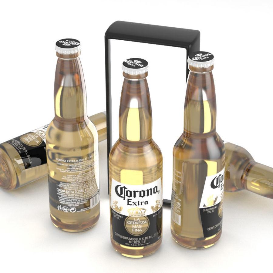 Butelka do piwa Corona Extra 355 ml royalty-free 3d model - Preview no. 1