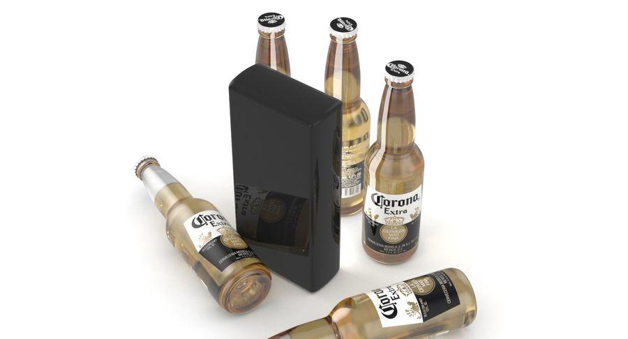 Butelka do piwa Corona Extra 355 ml royalty-free 3d model - Preview no. 8