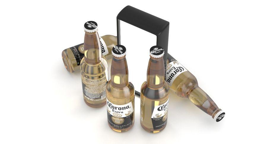 Butelka do piwa Corona Extra 355 ml royalty-free 3d model - Preview no. 5