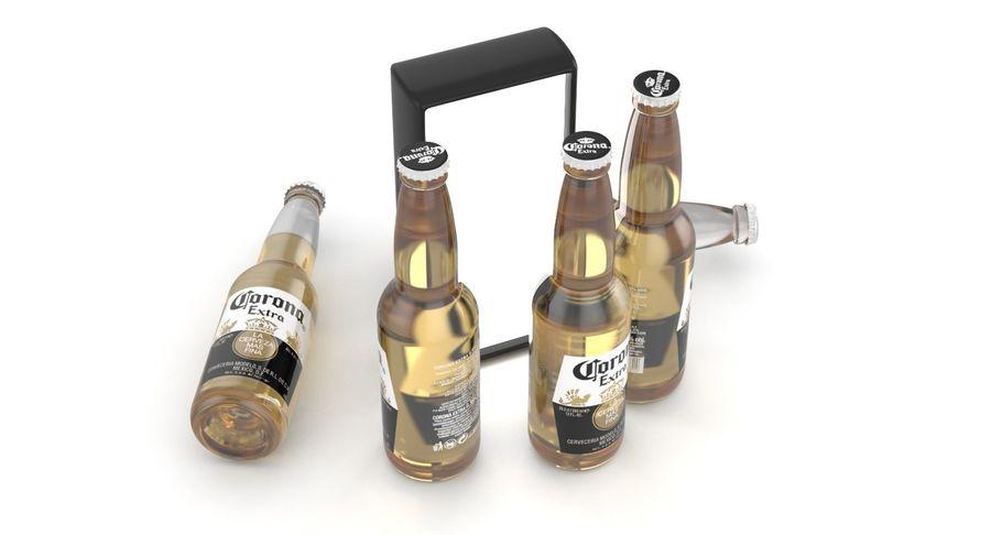 Butelka do piwa Corona Extra 355 ml royalty-free 3d model - Preview no. 4