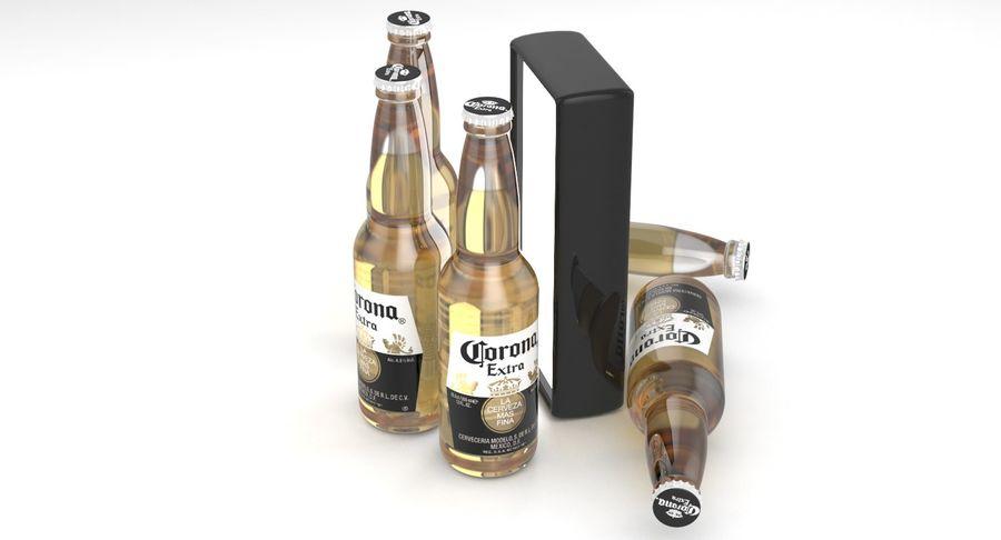 Butelka do piwa Corona Extra 355 ml royalty-free 3d model - Preview no. 6