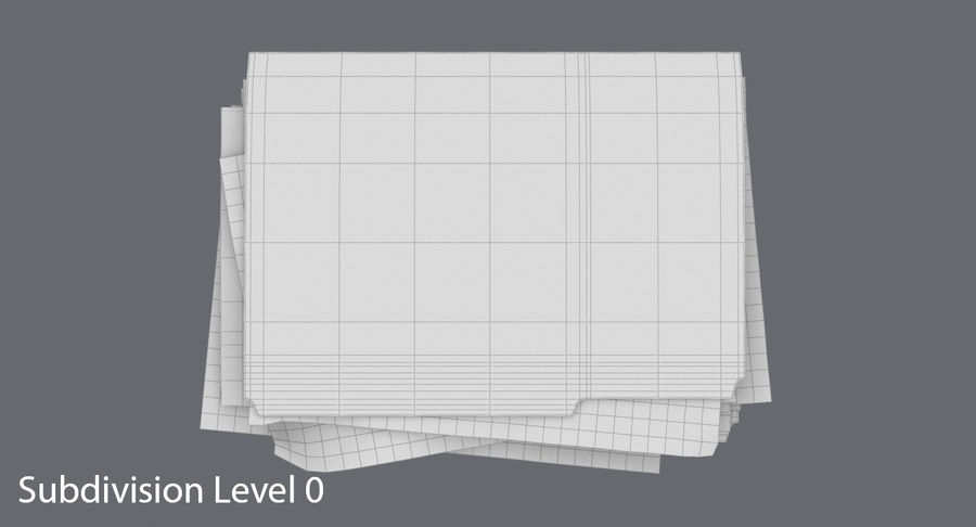 Cartella file ripieni royalty-free 3d model - Preview no. 13