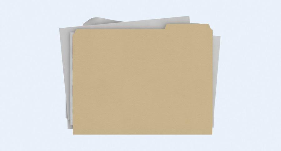 Cartella file ripieni royalty-free 3d model - Preview no. 11