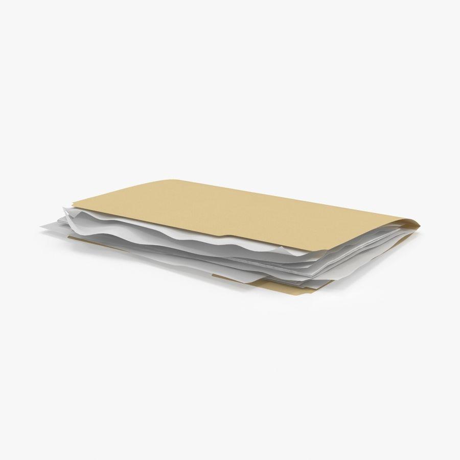 Cartella file ripieni royalty-free 3d model - Preview no. 1
