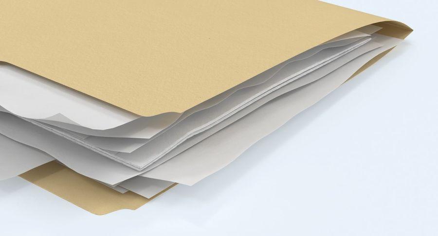 Cartella file ripieni royalty-free 3d model - Preview no. 9