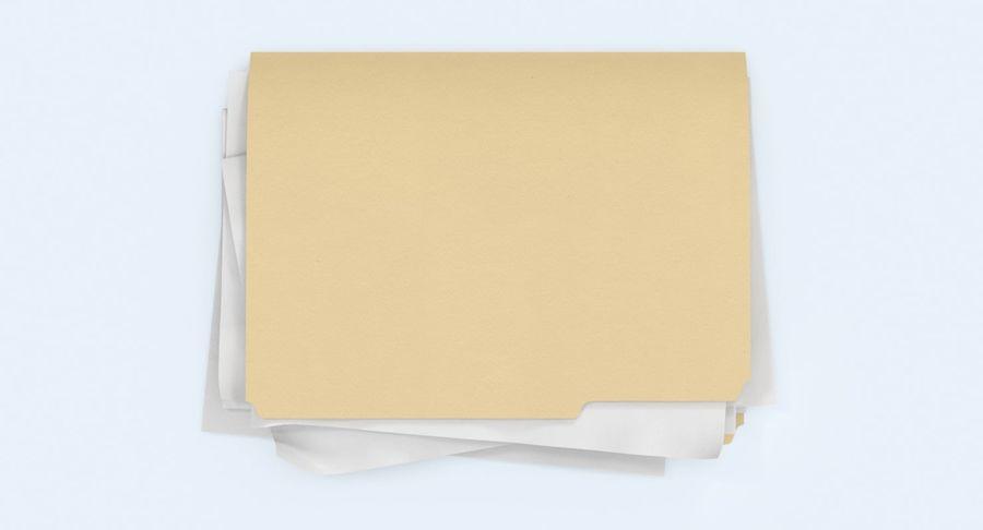 Cartella file ripieni royalty-free 3d model - Preview no. 5
