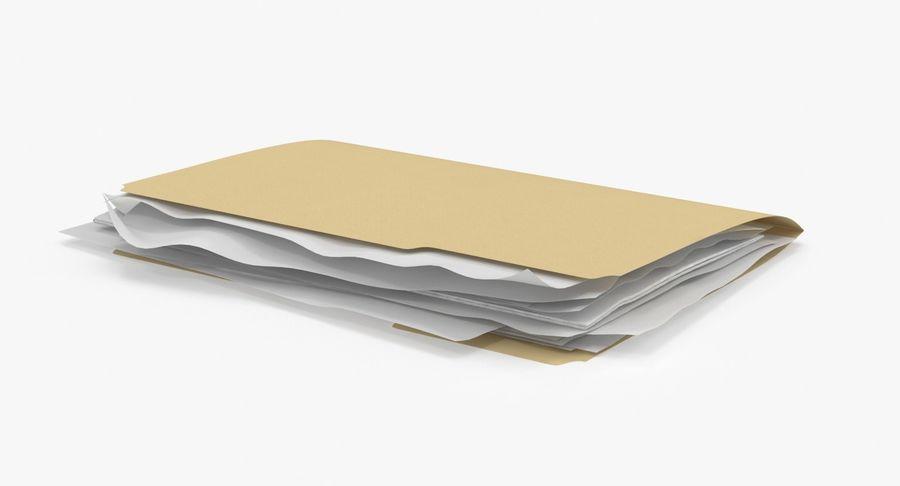 Cartella file ripieni royalty-free 3d model - Preview no. 2
