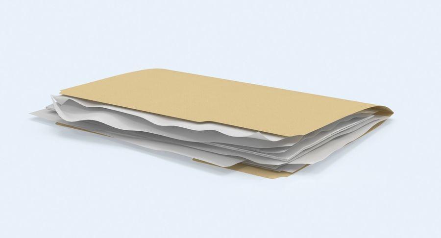 Cartella file ripieni royalty-free 3d model - Preview no. 3