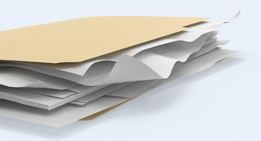 Cartella file ripieni royalty-free 3d model - Preview no. 10