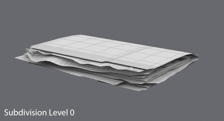 Cartella file ripieni royalty-free 3d model - Preview no. 12