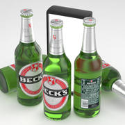 Beer Bottle Becks 500ml 3d model