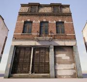 Old brick building 3d model