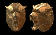 wolf head 3d model
