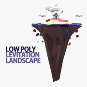 Levitation Landscape 3d model