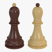 Chess Pieces - Bishop 3d model
