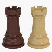 Chess Pieces - Rook 3d model
