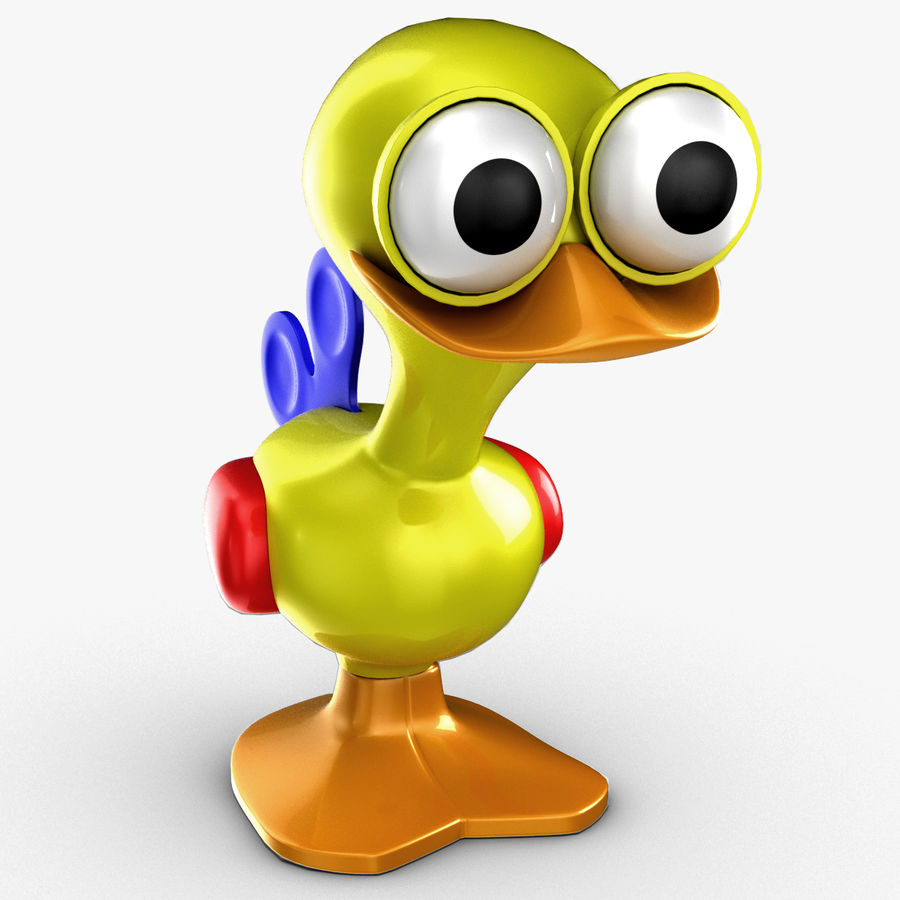 Tolo Toy Bird(1) royalty-free 3d model - Preview no. 3