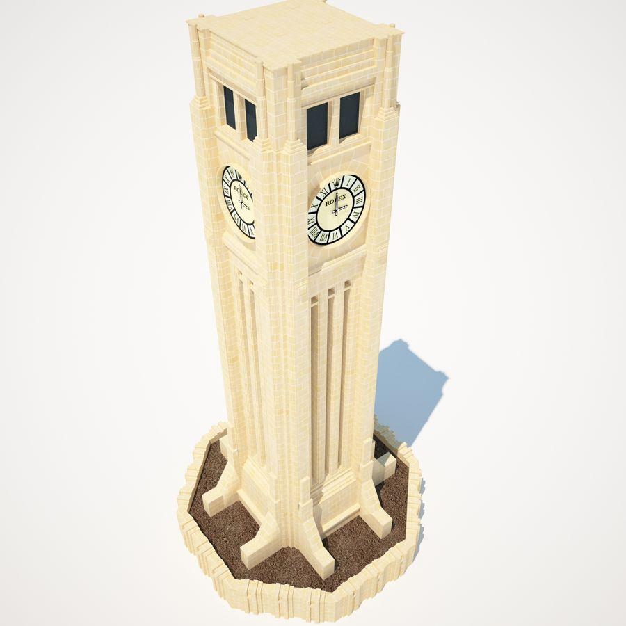 Wieża zegarowa royalty-free 3d model - Preview no. 3