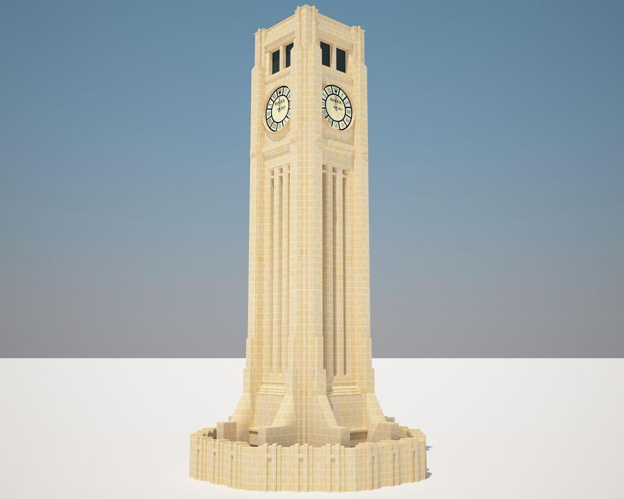 Wieża zegarowa royalty-free 3d model - Preview no. 1