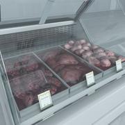 牛杂冷藏柜 3d model