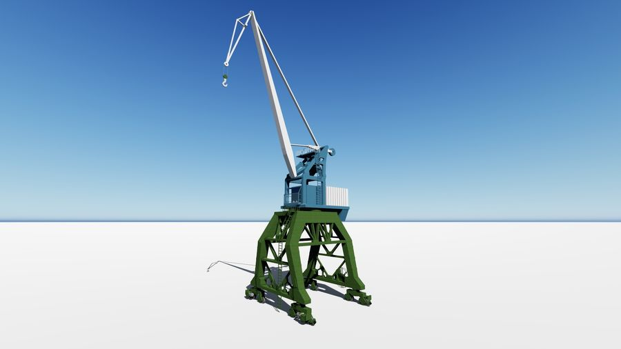 Crane Ganz royalty-free 3d model - Preview no. 1