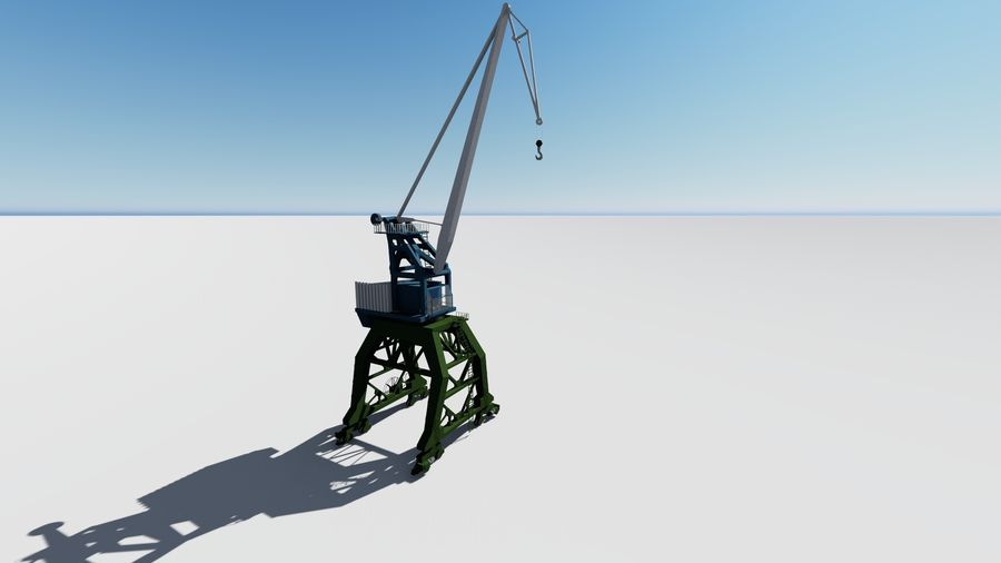 Crane Ganz royalty-free 3d model - Preview no. 2
