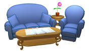 Cartoon Sofa set 3d model