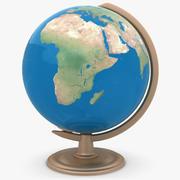 桌面地球仪 3d model