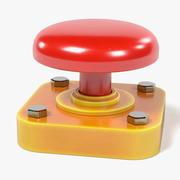 Röd knapp 3d model