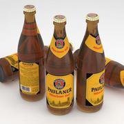 Beer Bottle Paulaner Munchner Hell 500ml 3d model