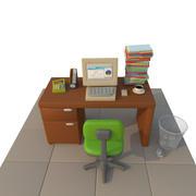 Bureau de dessin animé 3d model