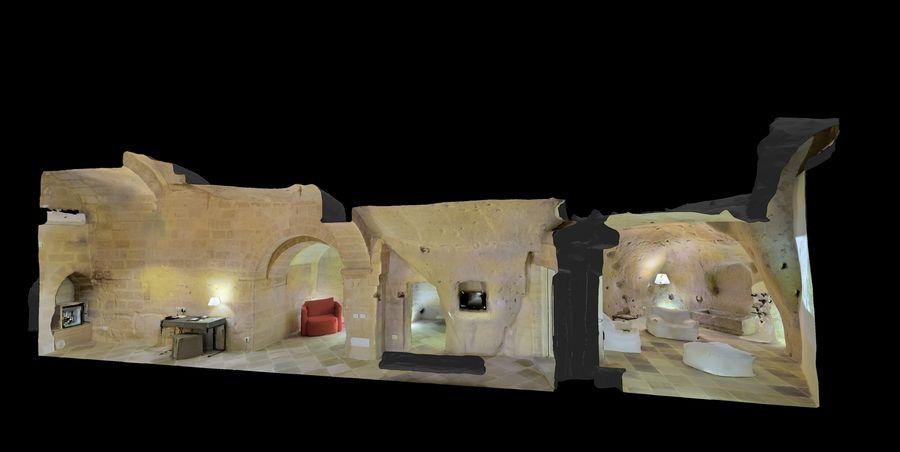 Cave Villa #2 royalty-free 3d model - Preview no. 3