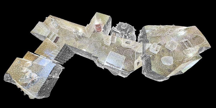 Cave Villa #2 royalty-free 3d model - Preview no. 2
