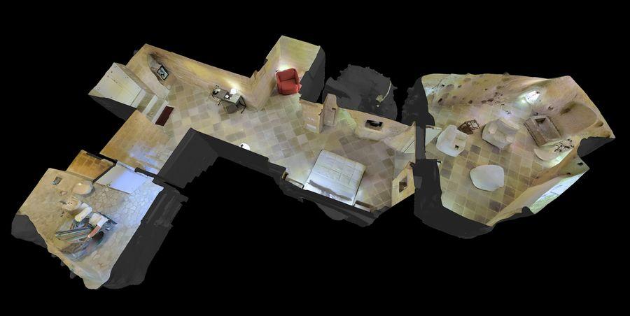 Cave Villa #2 royalty-free 3d model - Preview no. 1
