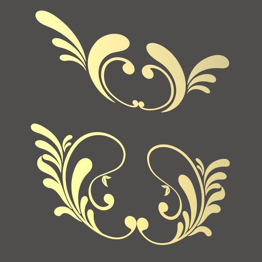 3D bloeien ornamentvormen royalty-free 3d model - Preview no. 5