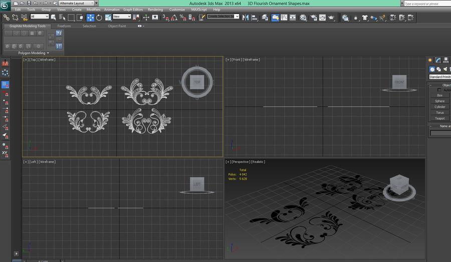 3D bloeien ornamentvormen royalty-free 3d model - Preview no. 8