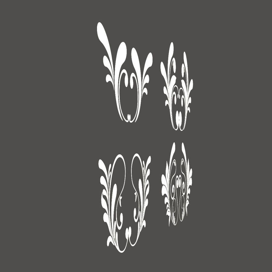 3D bloeien ornamentvormen royalty-free 3d model - Preview no. 4