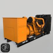 Gerador diesel amarelo (baixo poli) 3d model