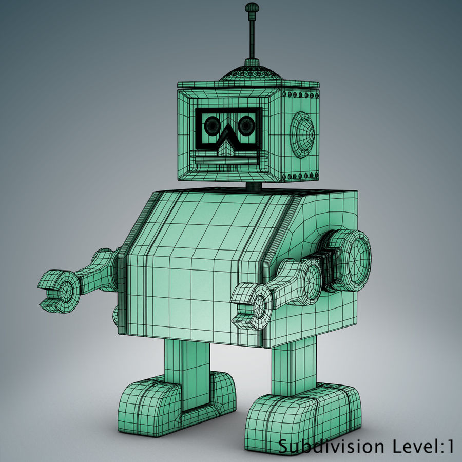 Tolo Toy Robot royalty-free 3d model - Preview no. 18