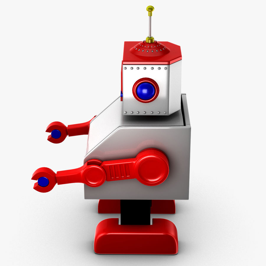 Tolo Toy Robot royalty-free 3d model - Preview no. 8