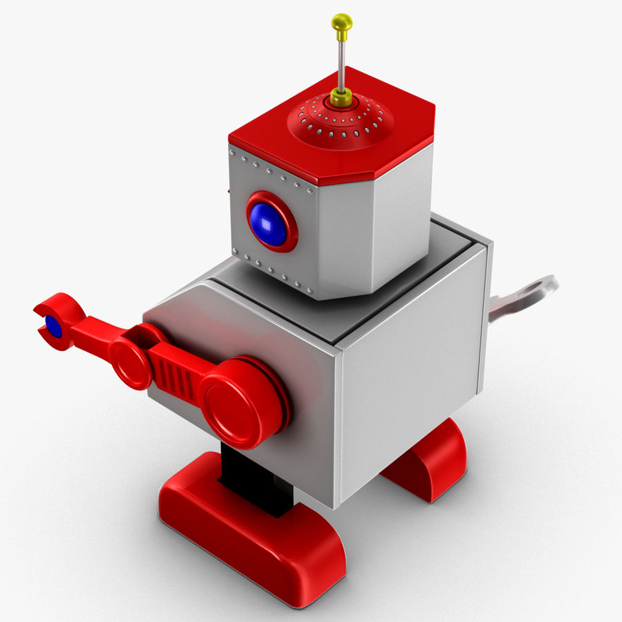 Tolo Toy Robot royalty-free 3d model - Preview no. 7